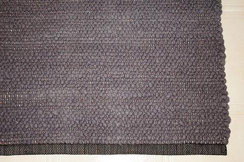 Tapis en laine teintée anthracite