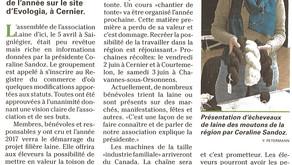 Article paru dans l'AGRI le 14 avril 2017