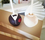 wedding cakepops, bride, groom, favors,anniversary,tuxedo,wedding dress