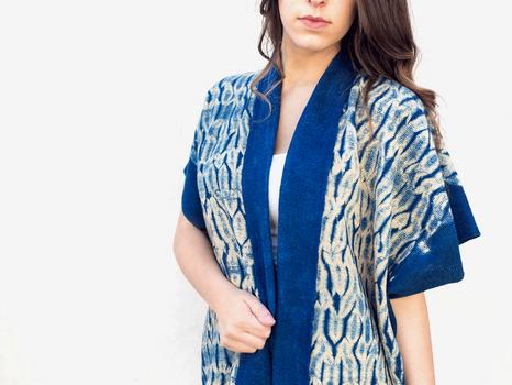 Woven Shibori Kimono