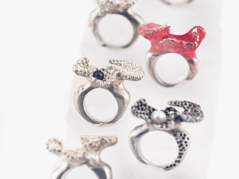 Cast Coral Rings