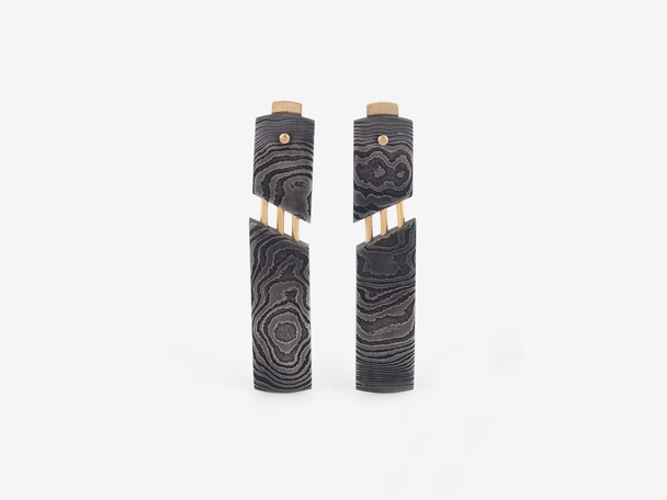 Damascus Post Earrings