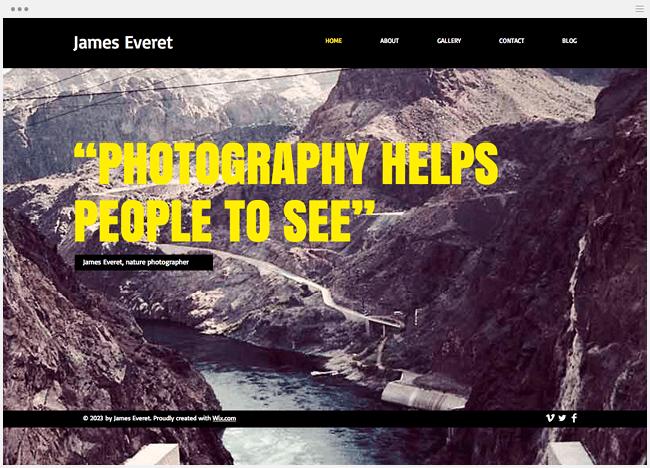 自然写真家ホームページ