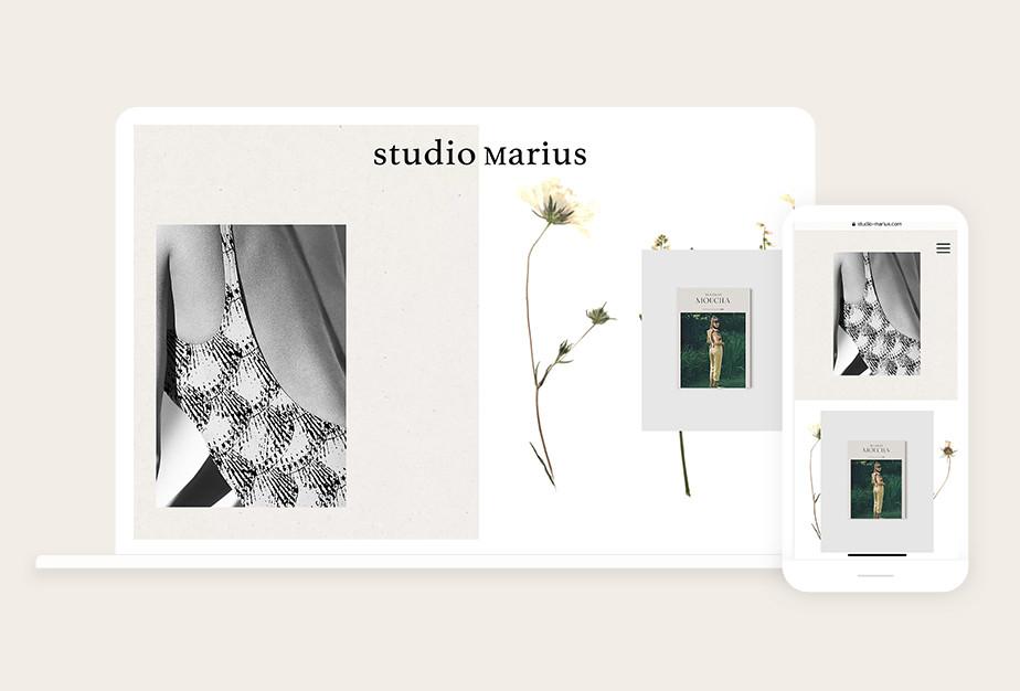 Online portfolio by creative studio Studio Marius