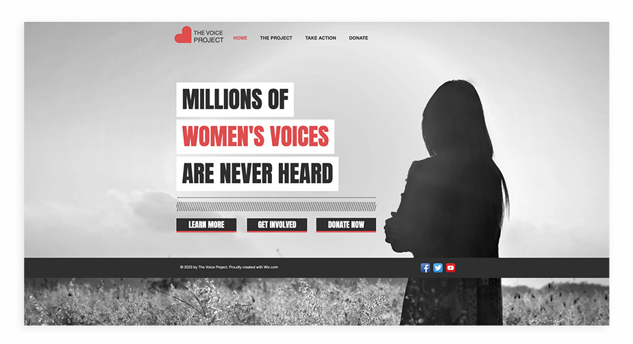 Nonprofit website template for community action group