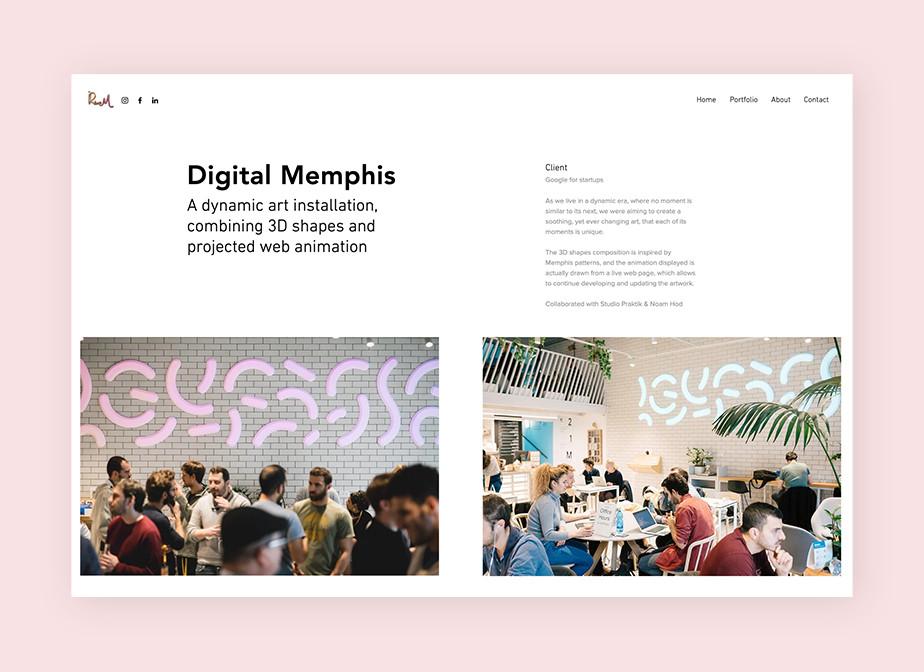 Online portfolio by design studio Rvem