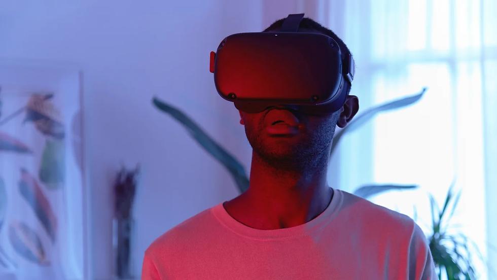Man wearing a VR headset