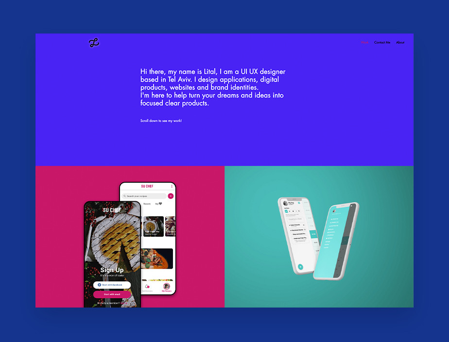 UX portfolio example by Lital Karni