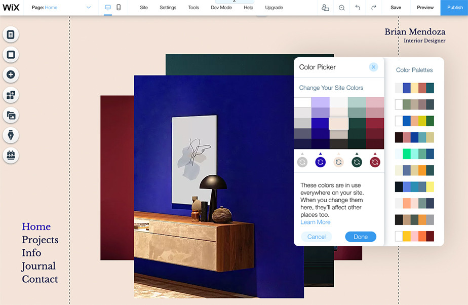 How to create a professional website on Wix