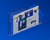 3D visual of transparent briefcase with crumpled paper inside