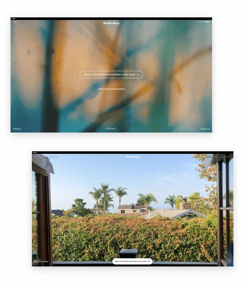 Best web design of 2020: WindowSwap by Sonali Ranjit and Vai Balasubramanian