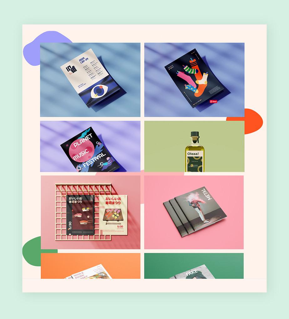 Online portfolio by graphic designer Shiyuan Ye