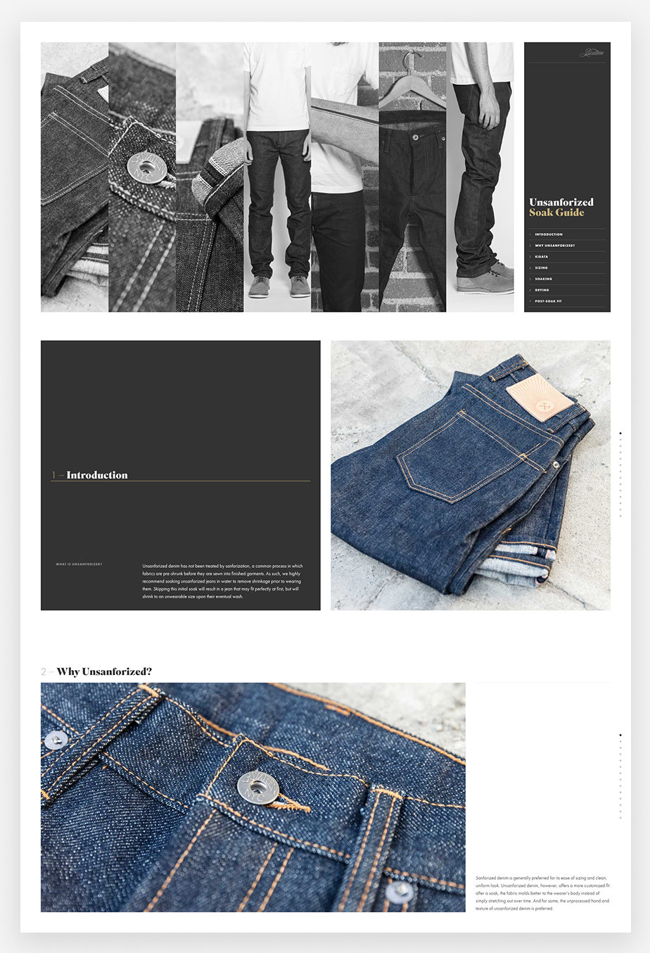 Landing page example by Unsanforized