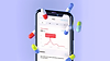 3D illustration of iPhone showing healthcare app surrounded by floating pills