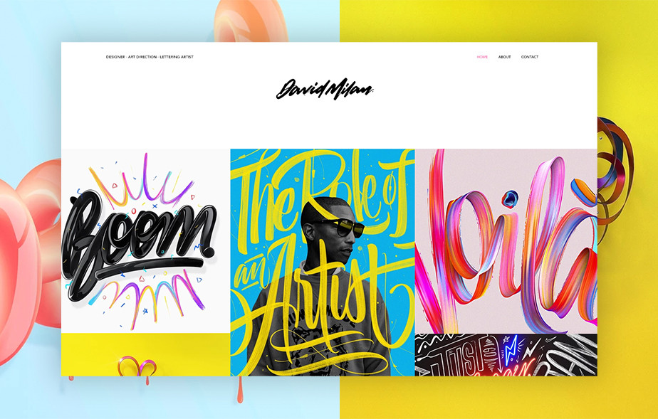 Best portfolio websites - David Milan