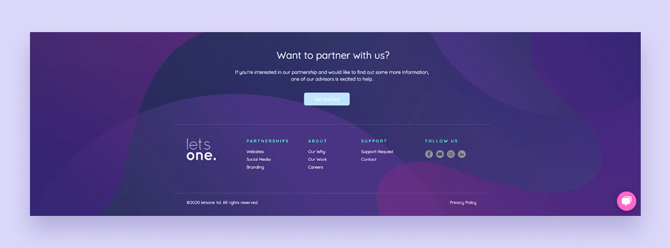 Website footer example by letsone