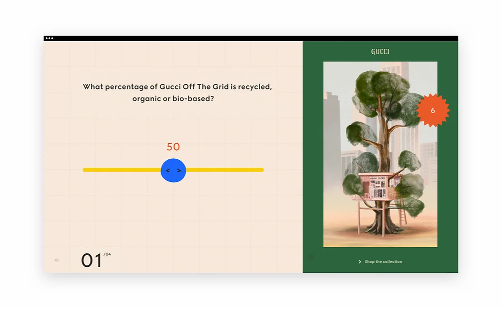 Best web design of 2020: Gucci Off the Grid