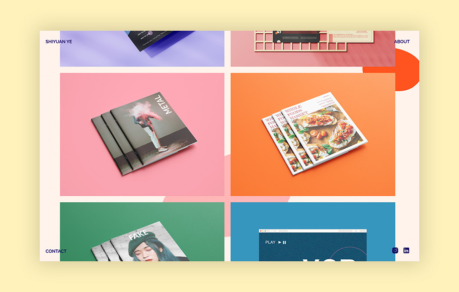 Best portfolio websites - Shiyuan Ye