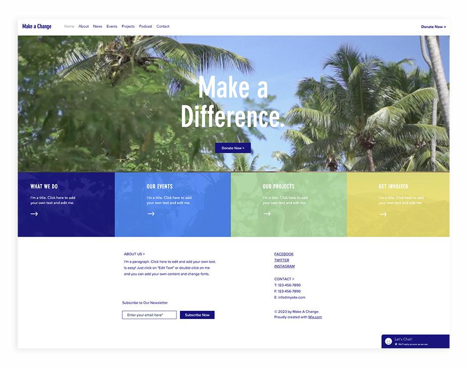 Nonprofit website template for environmental NGO