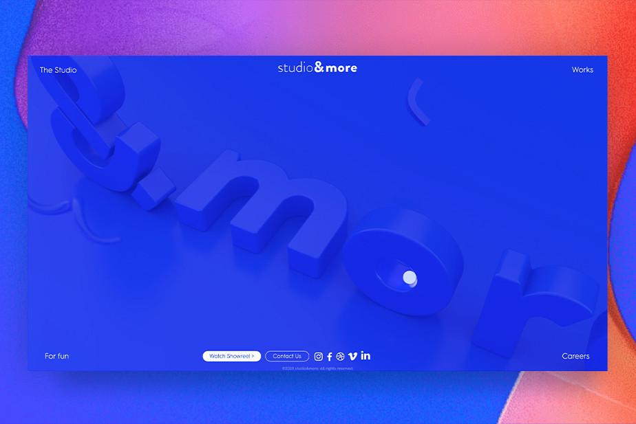 Graphic design website inspiration by Studio & More