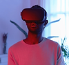 Man wearing a VR headset