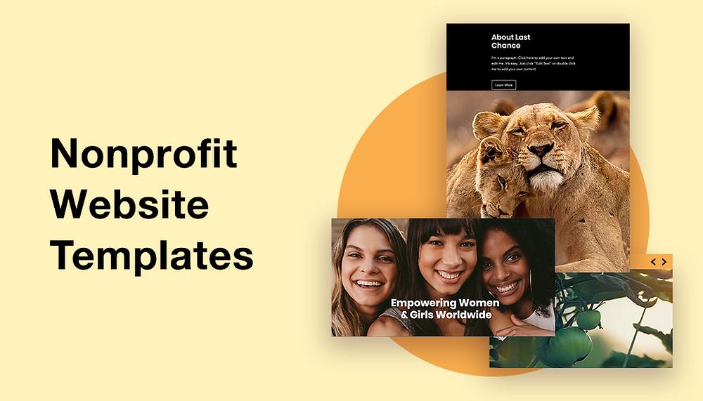 Nonprofit website templates