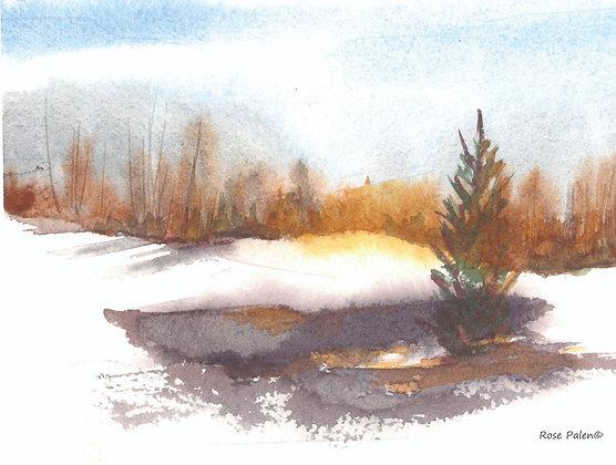 A WARM WINTER SCENE  Package of 3