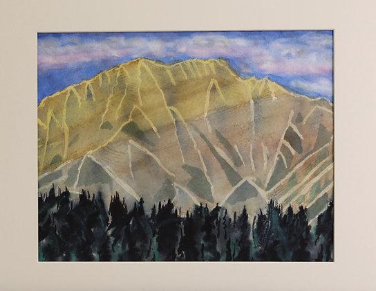 EARLY MORNING CASCADE MOUNTAIN, BANFF
