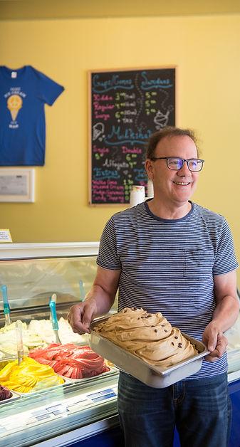 Ed's real scoop ice cream