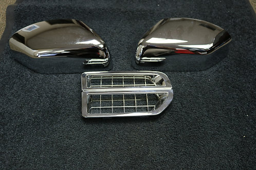 LR3 Chrome Grille Side Vent and Top Mirror Cap Set