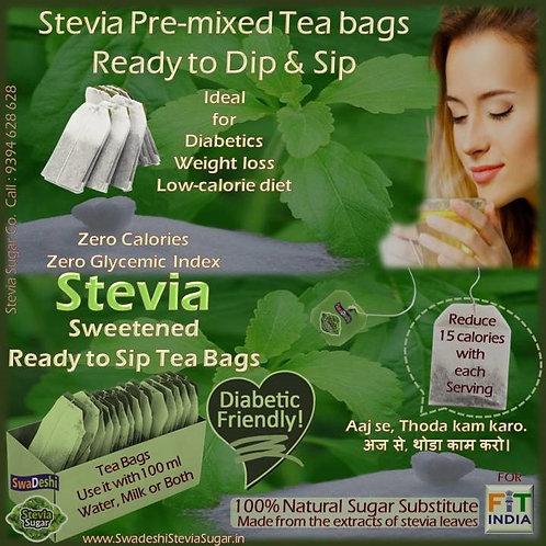 Stevia Sweetened Tea Bags ready to Dip-n-Sip