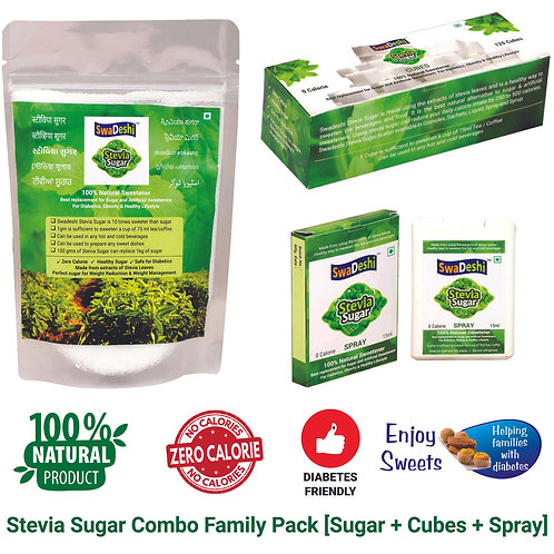 Stevia Sugar Combo Family Saver Pack