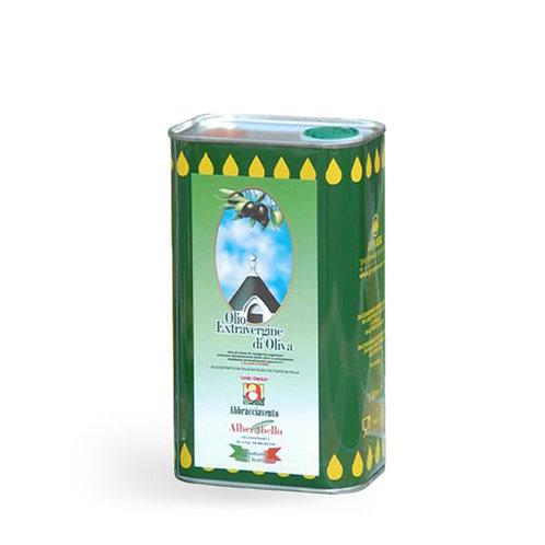 Olio extra vergine di oliva in lattina