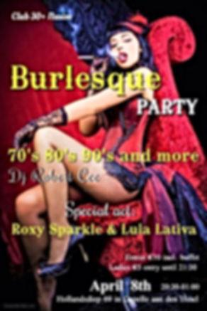 burlesque party vintage dj robert cee 30+ 40+ 50+ 70's 80's 90's disco
