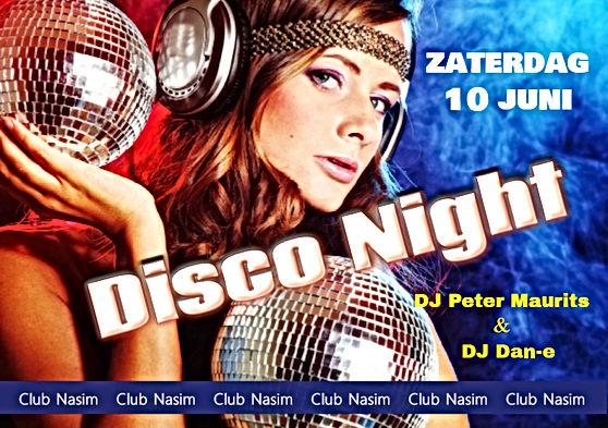 70's 80's 90's disco night met Dj Peter Maurits van Airport dancing