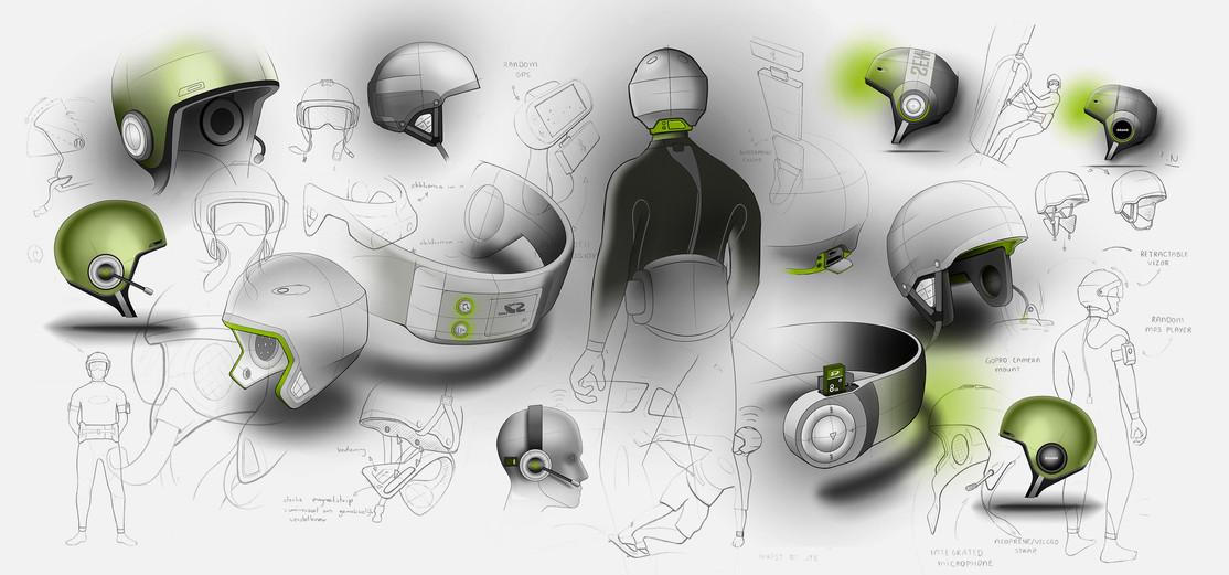 Audio helmet for water sports