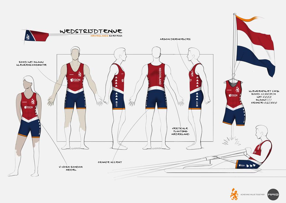 Clothing line Dutch rowing team