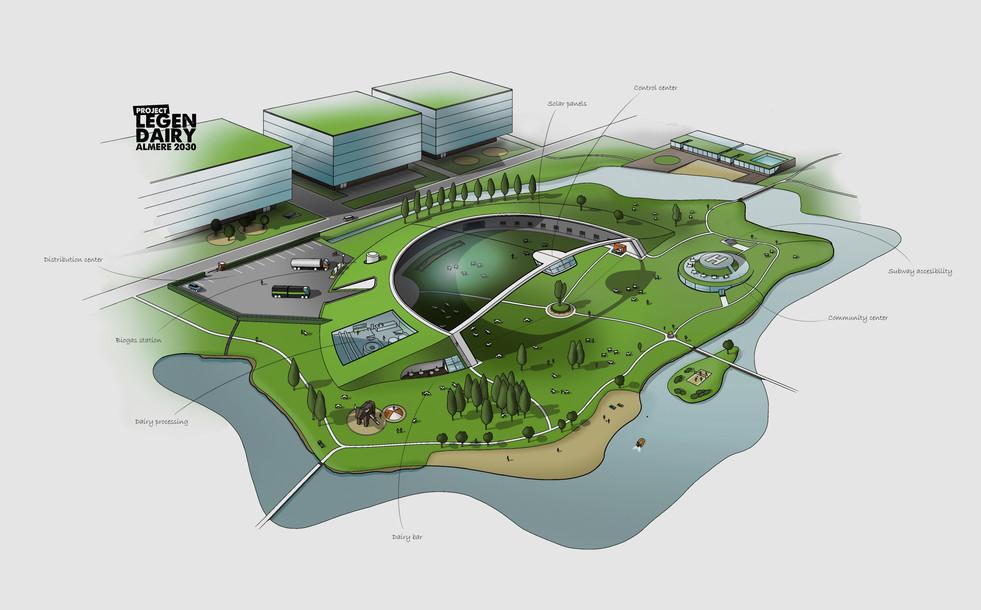 Project LegenDAIRY - Future urban cattle park