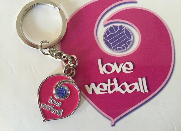 Love Netball Key Ring