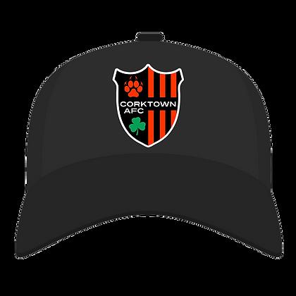 Black Embroidered Patch Adjustable Baseball Cap
