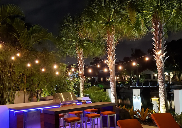 Outdoor Kitchen LED Lighting Presented by Global Glow