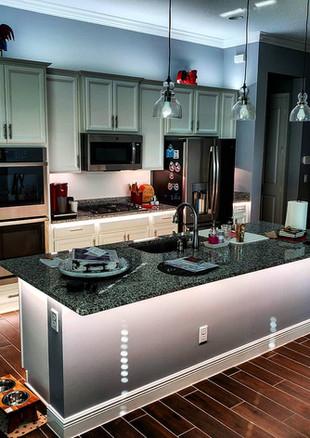 Full Kitchen Illumination Presented by Global Glow Lighting Design
