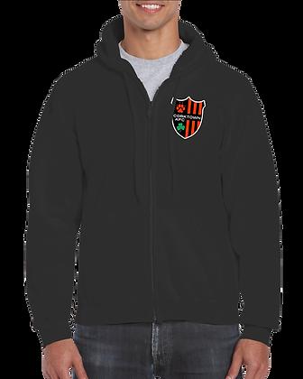 Black Unisex Sweatshirt with Embroidered Logo