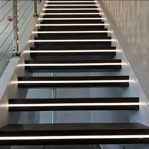 Custom Home LED Staircase