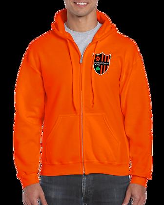 Orange Unisex Sweatshirt with Embroidered Logo