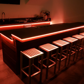 Custom LED Outdoor Bar Lighting Presented by Global Glow Lighting Design