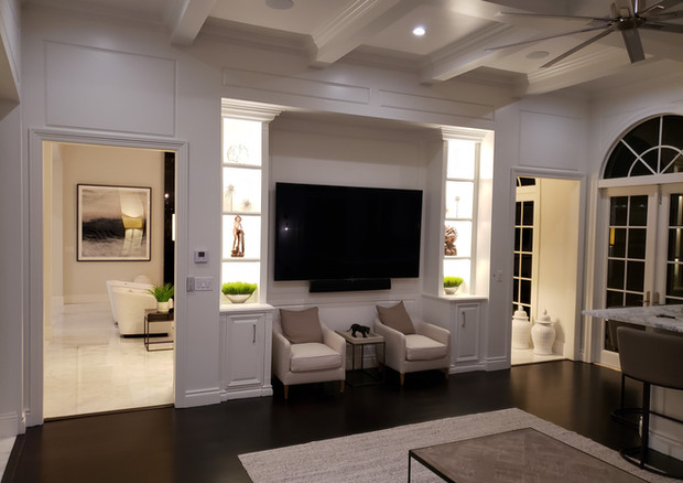 Custom Built in Accent LED Lighting Presented by Globa Glow Lighting Design.