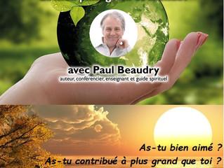 """""""Nul ne trouve un sens à sa vie en ne servant que lui-même"""" Paul Beaudry"""