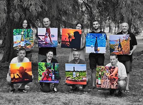 Balatoni Bormámor fotókiállítás csoportkép Speier Vikó