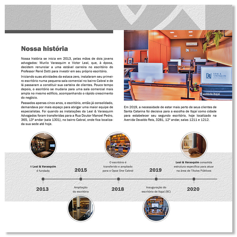 Folder Comercial Leal & Varasquim Advogados